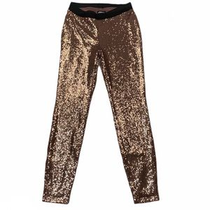 Project Runway Rose Gold Sequin Pants